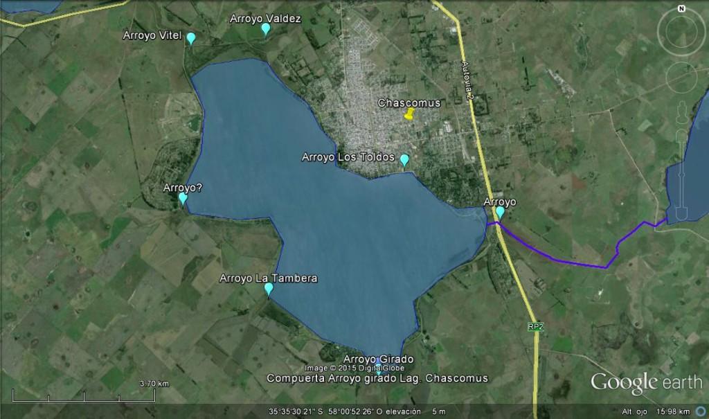 Laguna de Chascomus y sus arroyos