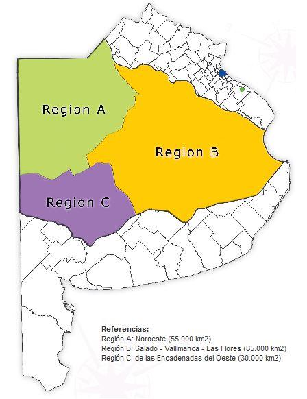 Regiones de la cuenca del salado